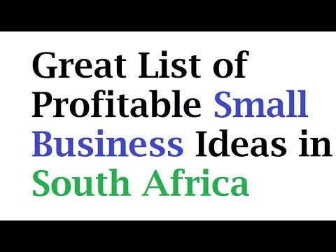 Great List of Profitable Small Business Ideas in South Africa