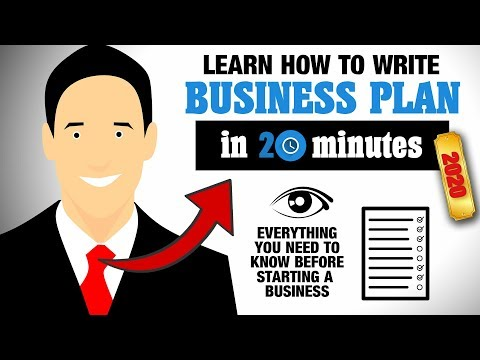 How to Write a Business Plan for Starting Your Own Business in 2020